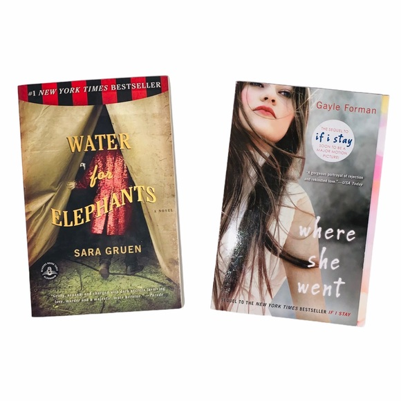 BOOK BUNDLE Water for Elephants & Where she went